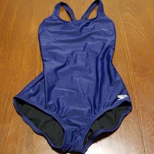 Speedo 8 long swim suit navy NWT B114:6:118